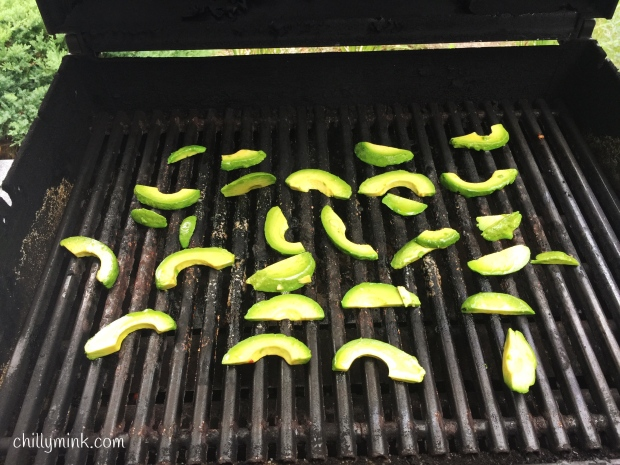 CM avocados on grill