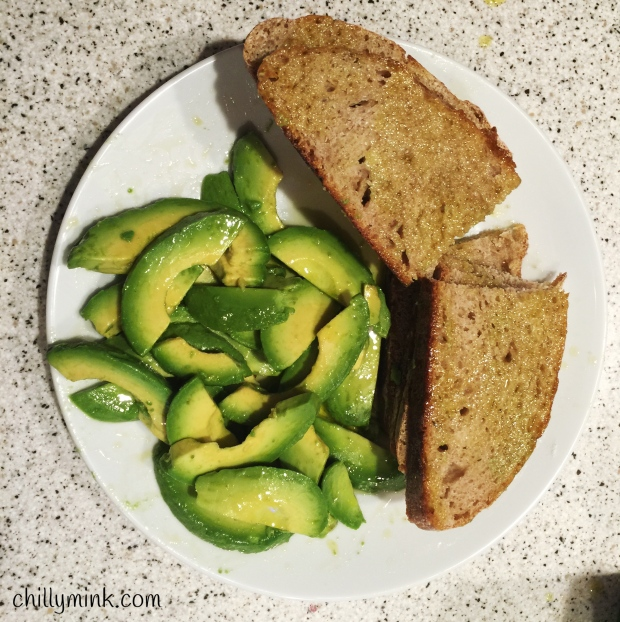 CM bread and avocado olive oil